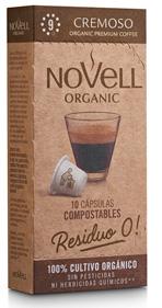 Cápsulas de café orgánico CREMOSO, compatibles con Nespresso® y 100% COMPOSTABLES.