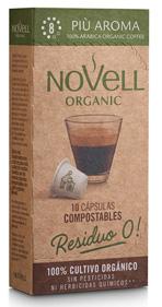 Cápsulas de café orgánico PIÙ AROMA, compatibles con Nespresso® y 100% COMPOSTABLES
