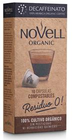 Cápsulas de café orgánico descafeinado, compatibles con Nespresso® y 100% COMPOSTABLES.
